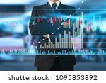 businessman plan graph growth... | Shutterstock . vector #1095853892
