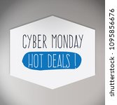 cyber monday sales label and... | Shutterstock .eps vector #1095856676