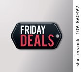 black friday sales deals  with... | Shutterstock .eps vector #1095860492