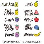fruits pattern.vector... | Shutterstock .eps vector #1095860666