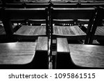 chairs in black and white | Shutterstock . vector #1095861515