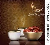 ramadhan kareem. iftar party... | Shutterstock .eps vector #1095867398