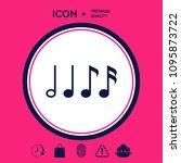 symbol of music  notes.... | Shutterstock .eps vector #1095873722