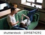 smiling millennial couple... | Shutterstock . vector #1095874292