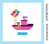 Cute Pink Ship Boat I Love You...