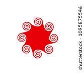 unique hurricane symbol ... | Shutterstock .eps vector #1095875546