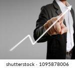 businessman with financial... | Shutterstock . vector #1095878006