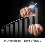 businessman with financial... | Shutterstock . vector #1095878012