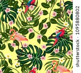 tropical seamless pattern with... | Shutterstock .eps vector #1095880802