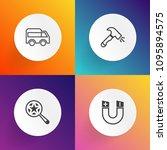 modern  simple vector icon set... | Shutterstock .eps vector #1095894575