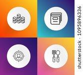 modern  simple vector icon set...   Shutterstock .eps vector #1095896336