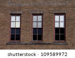 Three Red Rectangular Windows...