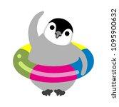 exercising baby emperor penguin | Shutterstock .eps vector #1095900632