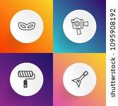 modern  simple vector icon set... | Shutterstock .eps vector #1095908192