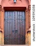 A Church Door In Small City...