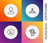 modern  simple vector icon set...   Shutterstock .eps vector #1095910688