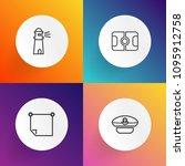 modern  simple vector icon set... | Shutterstock .eps vector #1095912758