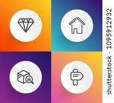 modern  simple vector icon set... | Shutterstock .eps vector #1095912932