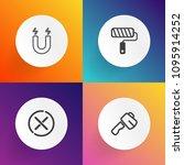 modern  simple vector icon set... | Shutterstock .eps vector #1095914252