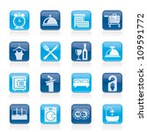 hotel and motel icons   vector... | Shutterstock .eps vector #109591772