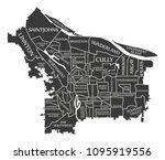 portland oregon city map usa... | Shutterstock .eps vector #1095919556