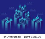 server room  concept  isometric ... | Shutterstock .eps vector #1095920108
