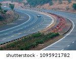 the mumbai pune expressway. | Shutterstock . vector #1095921782