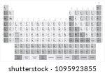 mendeleev's table. grayscale... | Shutterstock .eps vector #1095923855