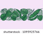 vector background with tropical ... | Shutterstock .eps vector #1095925766