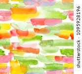 colorful watercolor stripes  ... | Shutterstock . vector #1095928196