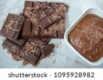close up of the dark chocolate... | Shutterstock . vector #1095928982