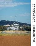 Small photo of CANBERRA, ACT, AUSTRALIA, 11 APRIL 2018 - View of Parliament House from Anzac Parade, Canberra, ACT, Australia