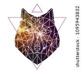 abstract polygonal tirangle... | Shutterstock .eps vector #1095943832