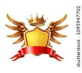 coat of arms. golden crown ... | Shutterstock .eps vector #1095947702