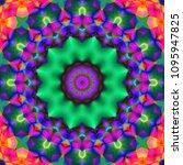decorative fantasy   flower...   Shutterstock . vector #1095947825