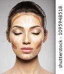 cosmetic makeup tonal...   Shutterstock . vector #1095948518