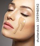liquid cosmetic makeup... | Shutterstock . vector #1095948542