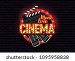 movie time poster. cinema...   Shutterstock .eps vector #1095958838