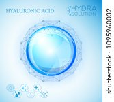 hyaluronic acid or abstract... | Shutterstock .eps vector #1095960032