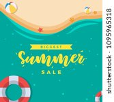 summer sale banner vector | Shutterstock .eps vector #1095965318