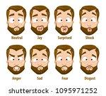 bearded strong businessman... | Shutterstock .eps vector #1095971252