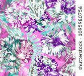 trendy color floral pattern... | Shutterstock . vector #1095980756