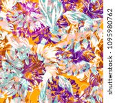 abstract tropical pattern... | Shutterstock . vector #1095980762