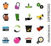 solid vector ixon set   trash... | Shutterstock .eps vector #1095982202