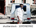 stylish african american man in ... | Shutterstock . vector #1095985982