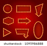 realistic detailed 3d glowing... | Shutterstock .eps vector #1095986888