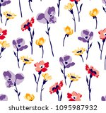 spring colorful flowers pattern ... | Shutterstock .eps vector #1095987932