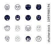mood icon. collection of 16...   Shutterstock .eps vector #1095988196