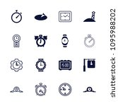 watch icon. collection of 16... | Shutterstock .eps vector #1095988202