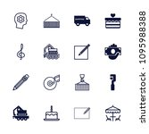 pictograph icon. collection of... | Shutterstock .eps vector #1095988388